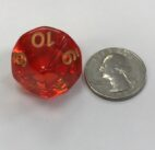Red Countdown d10 - DiceEmporium.com