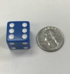 19mm Blue Opaque 6 Sided Die - DiceEmporium.com