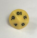 Yellow Opaque Number Dice 1 to 10 - DiceEmporium.com