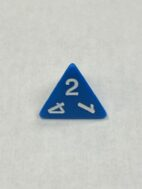 Blue d4 reads at top - DiceEmporium.com