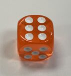 HD Transparent Orange 16mm d6 - DiceEmporium.com